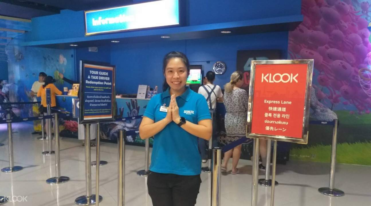 SEA LIFE Bangkok Ocean World Klook skip-the-line ticket lane
